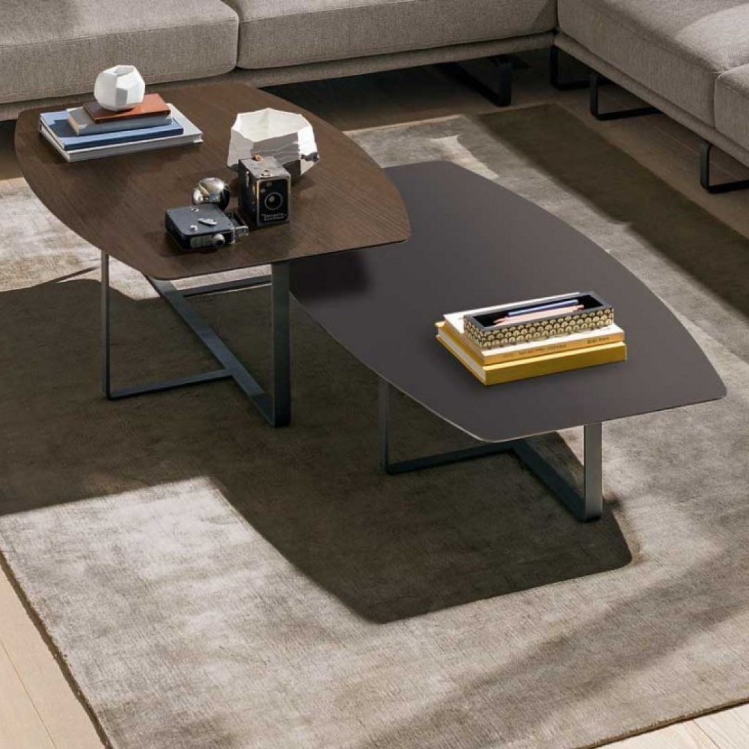 Metal Coffee Table Contemporary Coffee Table Metal Marble Oak Tempo Natuzzi