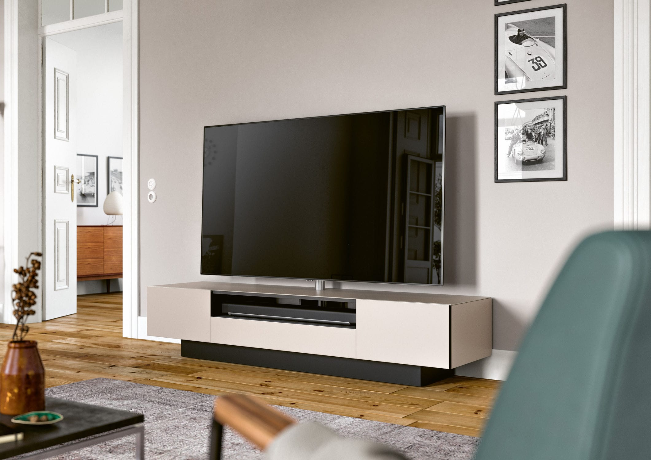 Spectral Audio Möbel Contemporary Tv Cabinet With Built In Speaker Glass Brick