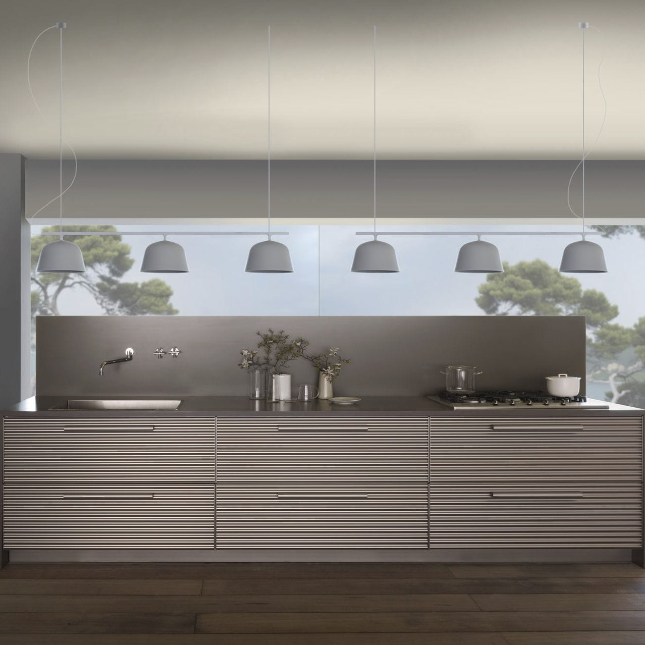 Schiffini Kuche Contemporary Kitchen Aluminum Island By Vico Magistretti