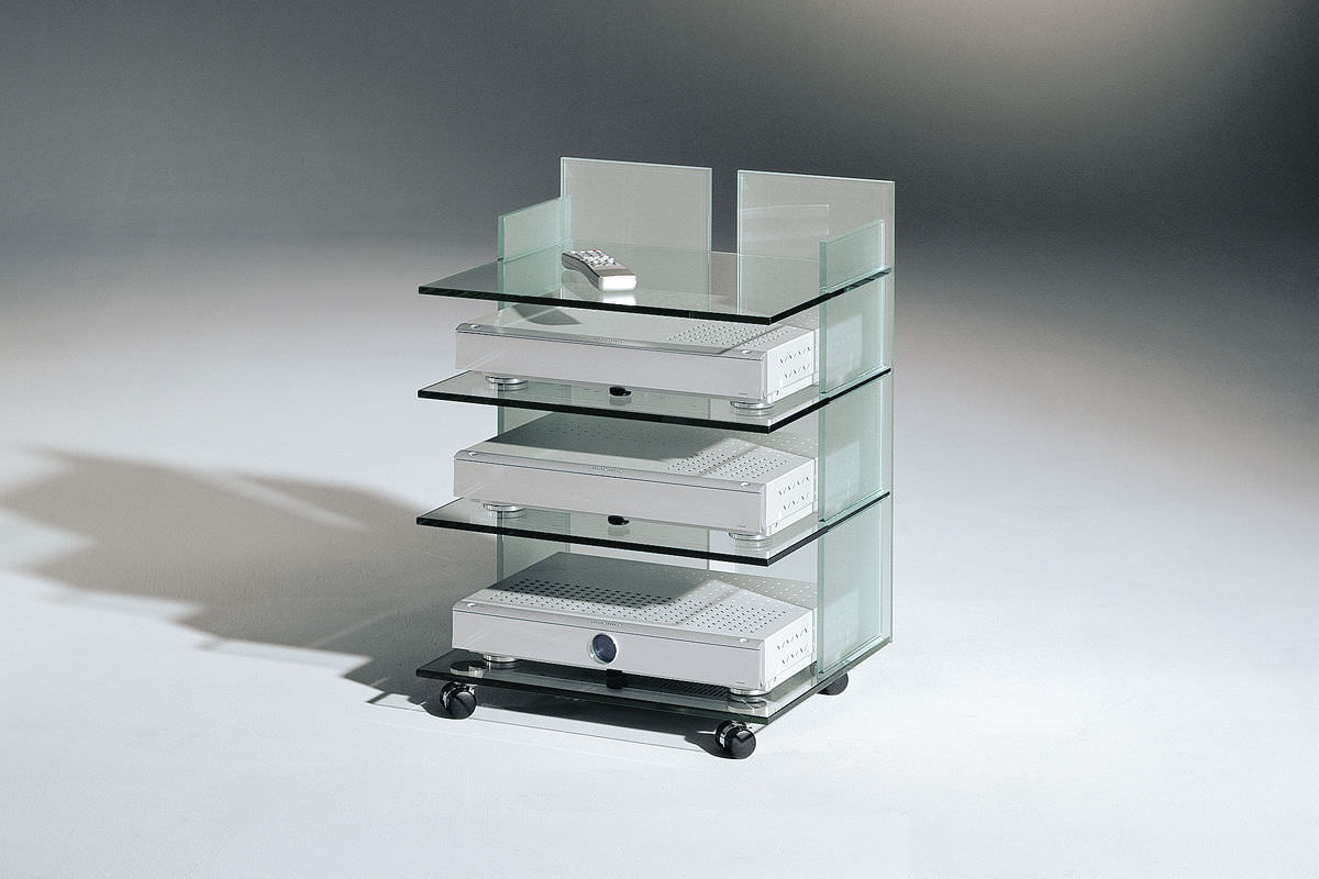 Contemporary Tv Cabinet Vision Dreieck Gmbh Hi Fi Custom On Casters