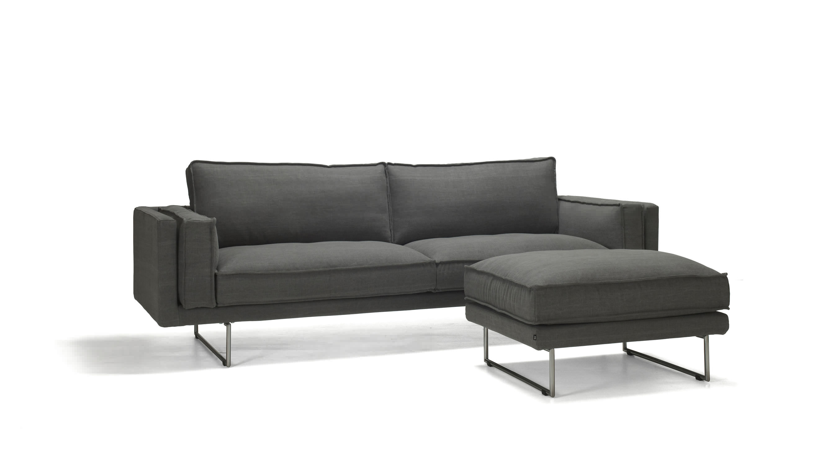 Naturmöbel Sofa Contemporary Sofa Fabric 3 Seater With Footrest Altero By