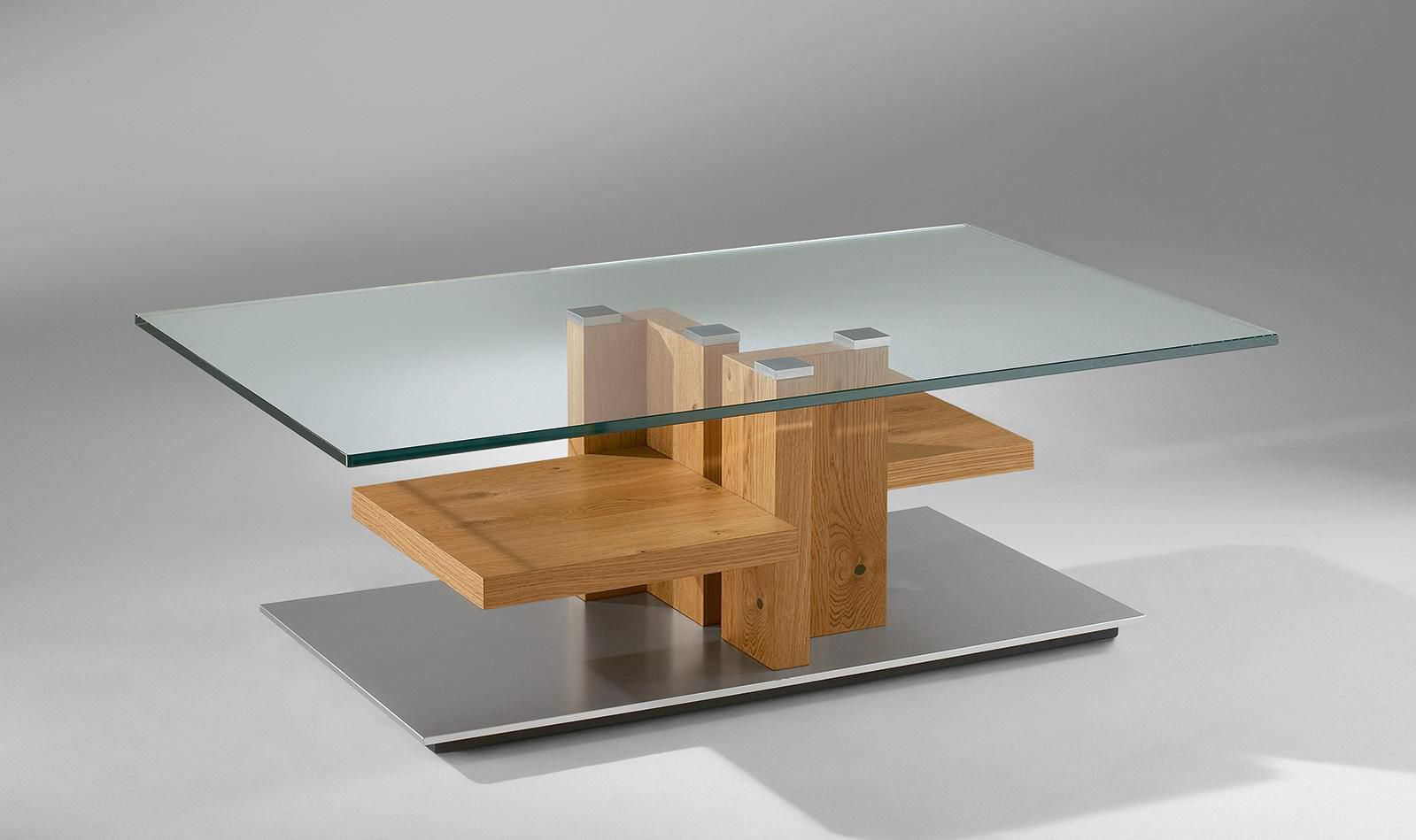 Venjakob Couchtisch 4400 Contemporary Coffee Table Wooden Glass Rectangular 4424