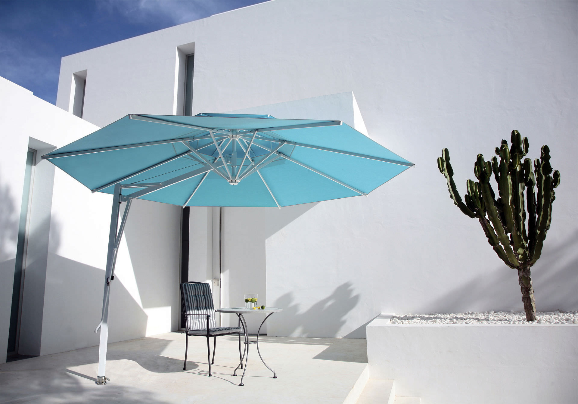 Side Post Parasol Belvedere Caravita For Bar For Public Pools For Hotel