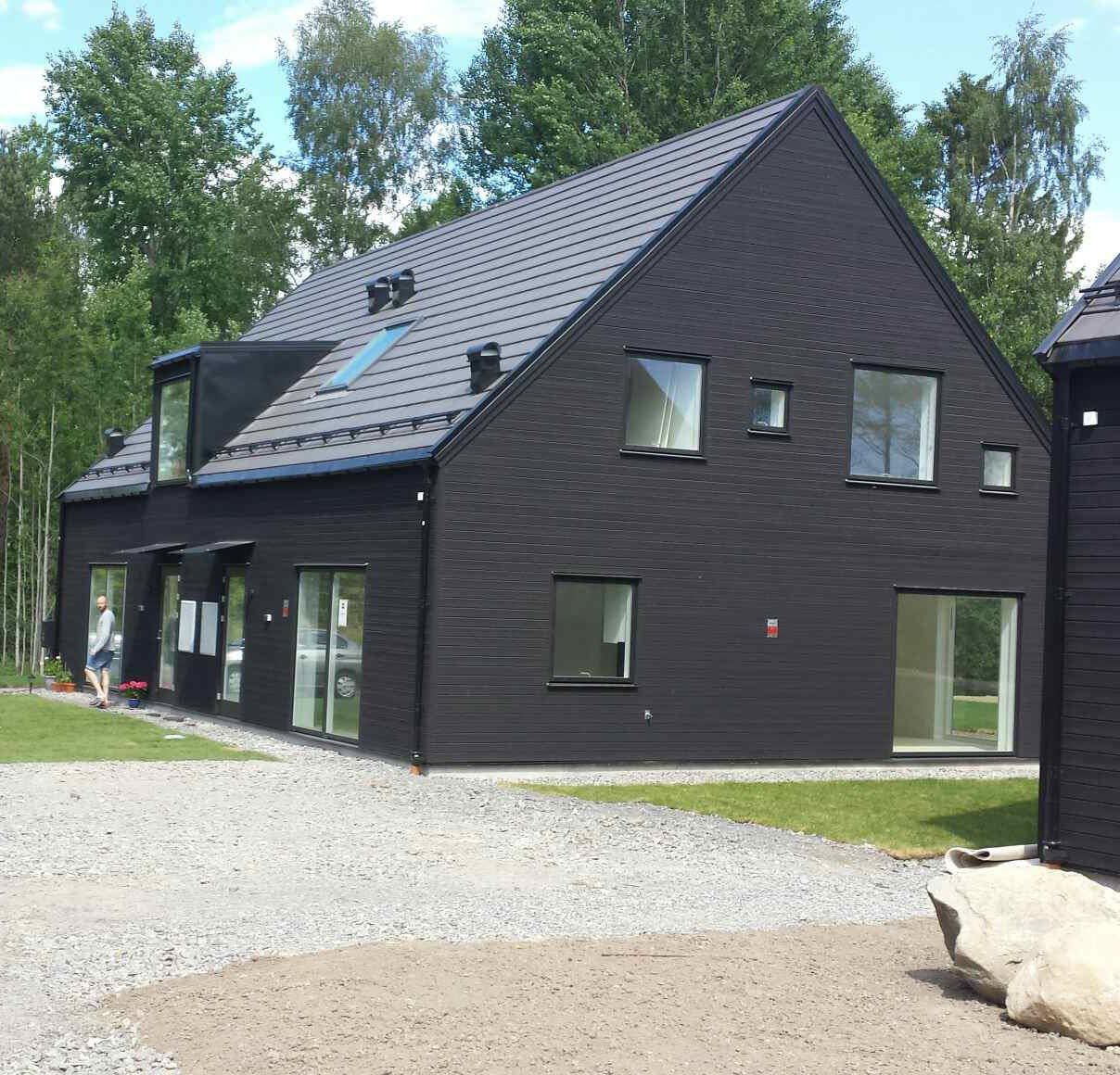 Sweden Houses Design Prefab House Contemporary Wooden Frame Two Story Sweden