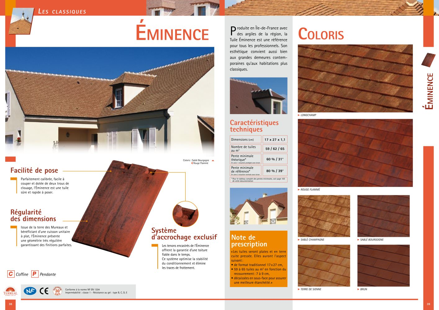 Tuile Des Mureaux Eminence Terreal Couverture Pdf Catalogs Documentation