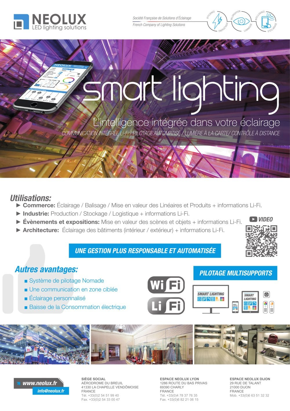 Eclairage Led Lyon Smart Lighting Éclairage Led Intelligent Nlx Pdf Catalogs