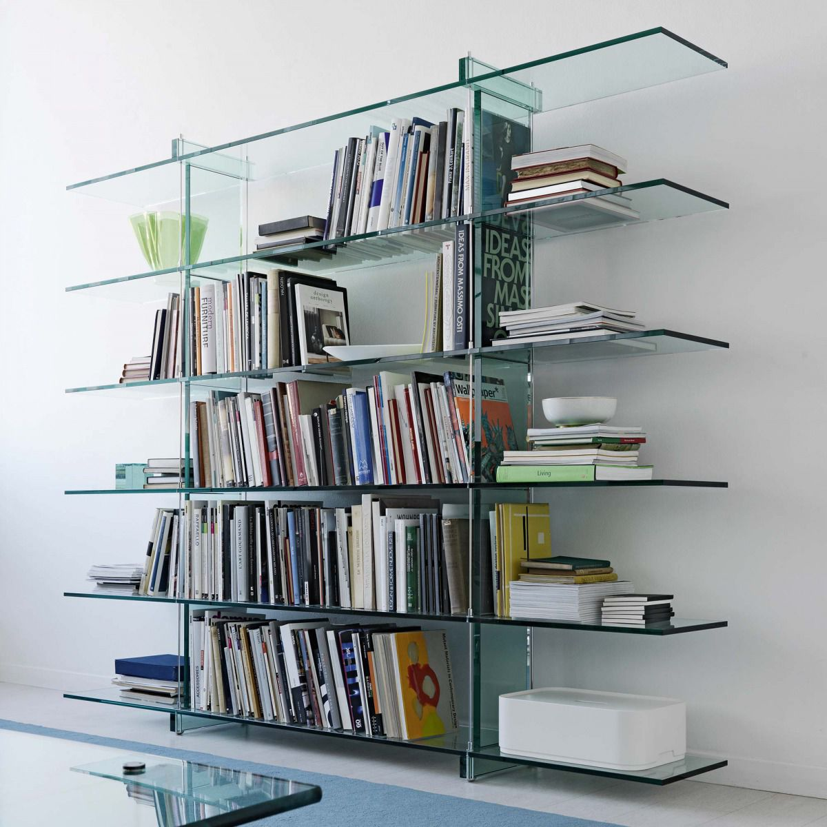 Bücherregal Glas Modernes Regal Glas Teso By Renzo Piano Fontanaarte