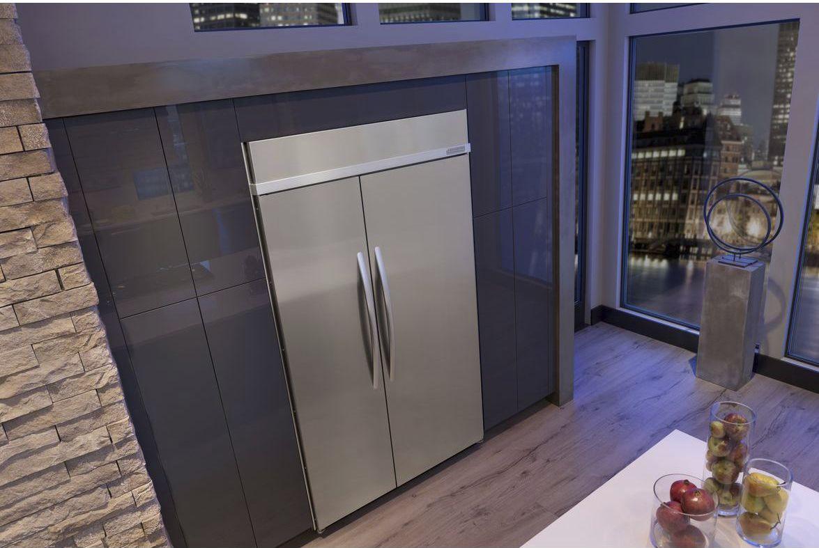Amerikanischer Kühlschrank Einbau : Side by side kühlschrank in küche integrieren kachelofen und