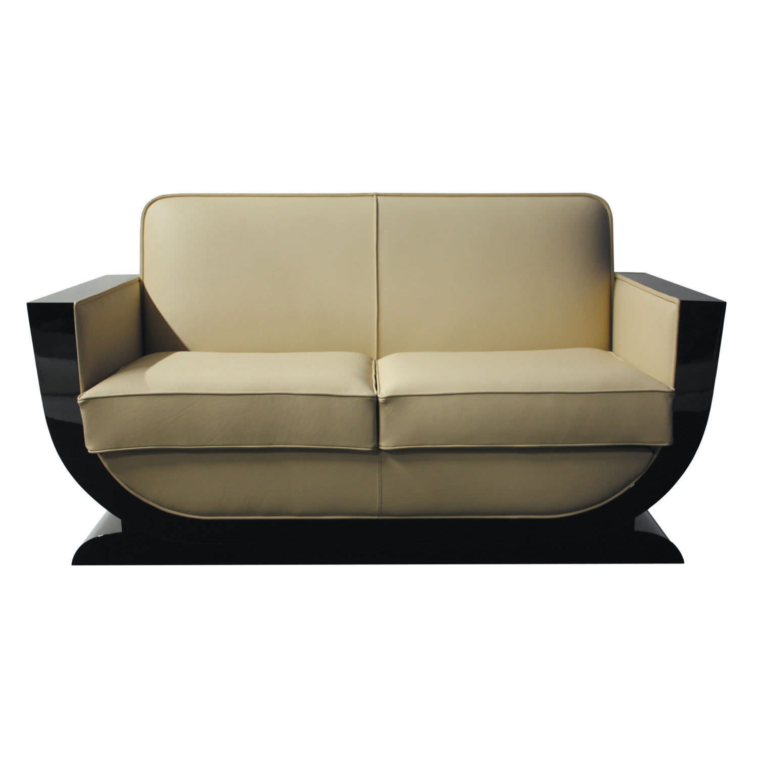 Bettsofa Holzgestell Sofa Art Deco Leder Holz Stoff Sf085 Cygal Art Deco