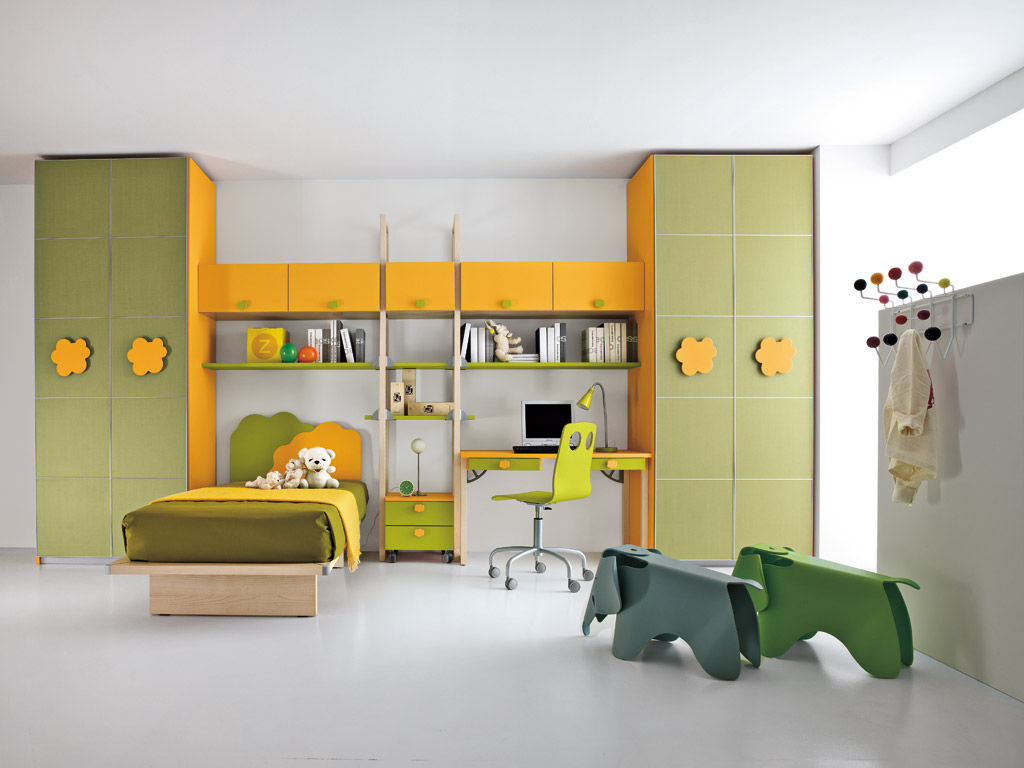 Grünes Kinderzimmer Grünes Kinderzimmer Unisex Nuvola 2 Faer Ambienti