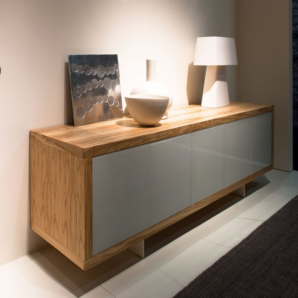 Sideboard Holz Metall Modernes Sideboard Holz Lackiertes Glas Metall Maderno By