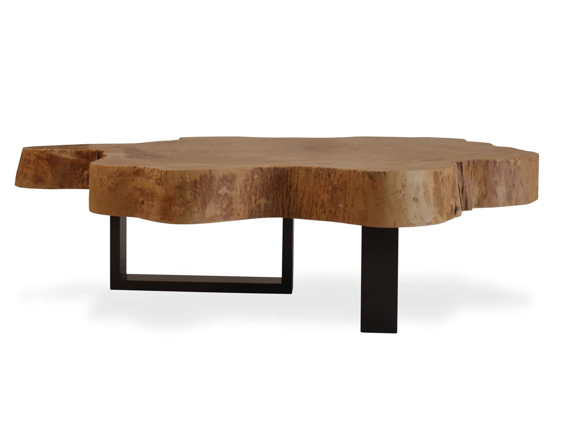 Moderner Couchtisch Organic Jatoba And Metal Rotsen Furniture Holz Altholz Innenraum
