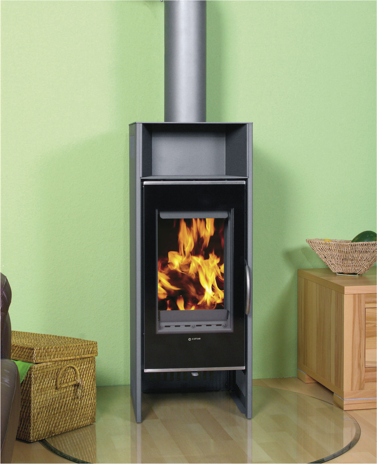 Color Fire Kaminofen Holz Kaminofen Modern Metall C4 Color Emajl Doo