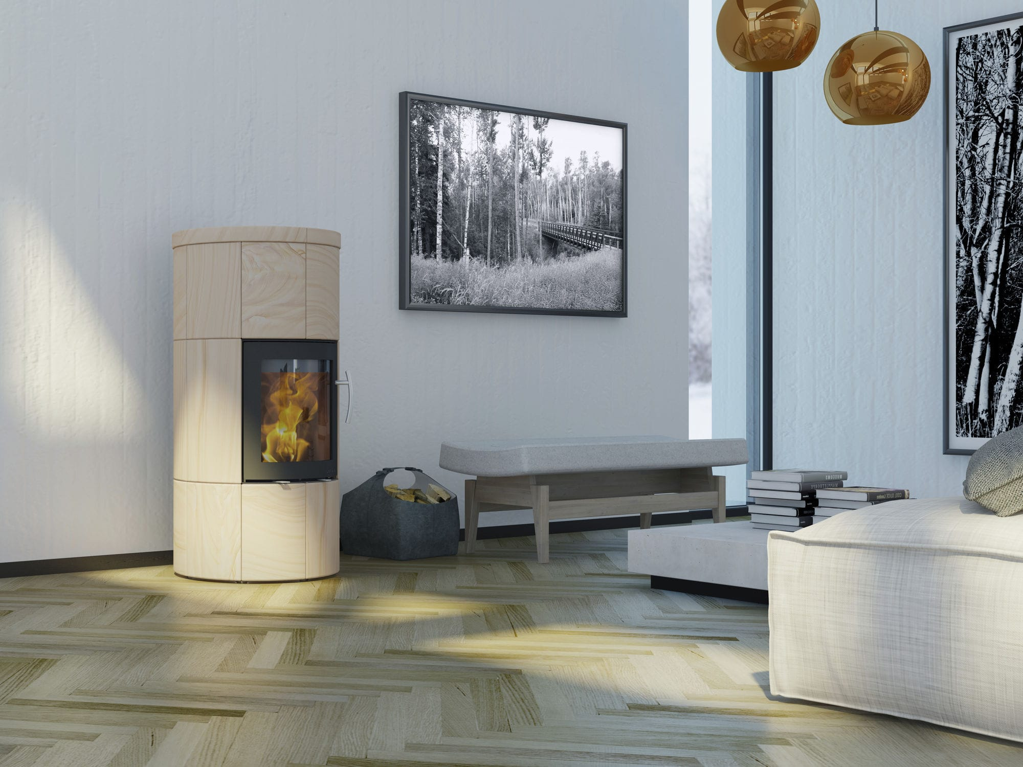 Kaminofen Lotus M1 Holz Kaminofen Modern Stein M1 Lotus Heating Systems A S