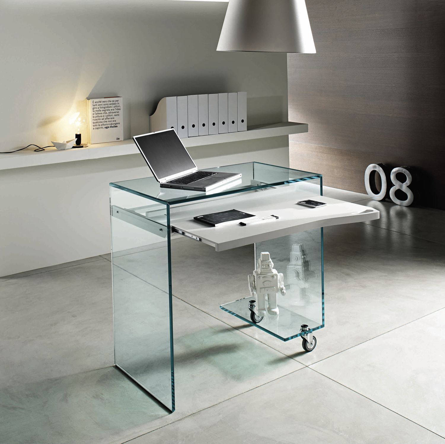 Moderner Computertisch Work Box Tonelli Design Glas