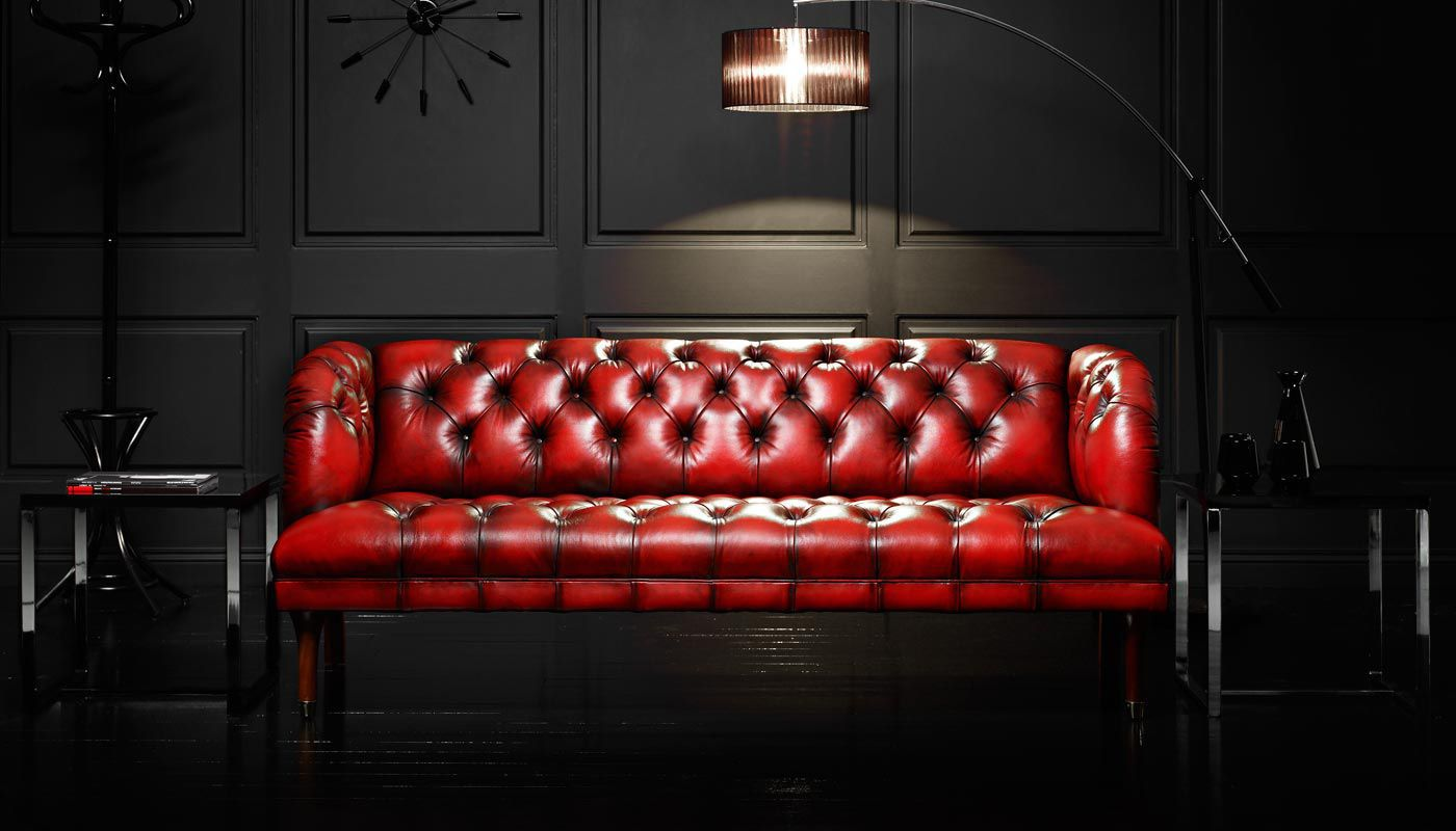 Chesterfield Sofa Leder Rot Chesterfield Sofa Leder 3 Plätze Rot Parliament Fleming