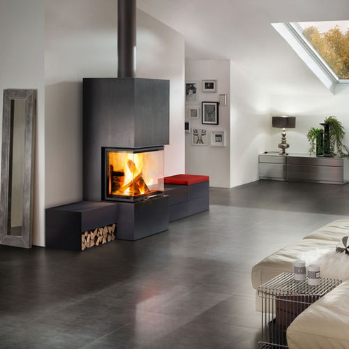 Design Kaminofen Freistehend Holz-kaminofen - Ares - Spartherm - The Fire Company - 3 ...