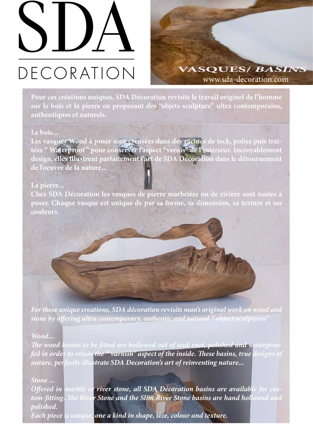 Creation Decoration Interieur Vasques Sda Decoration Pdf Katalog Beschreibung Prospekt