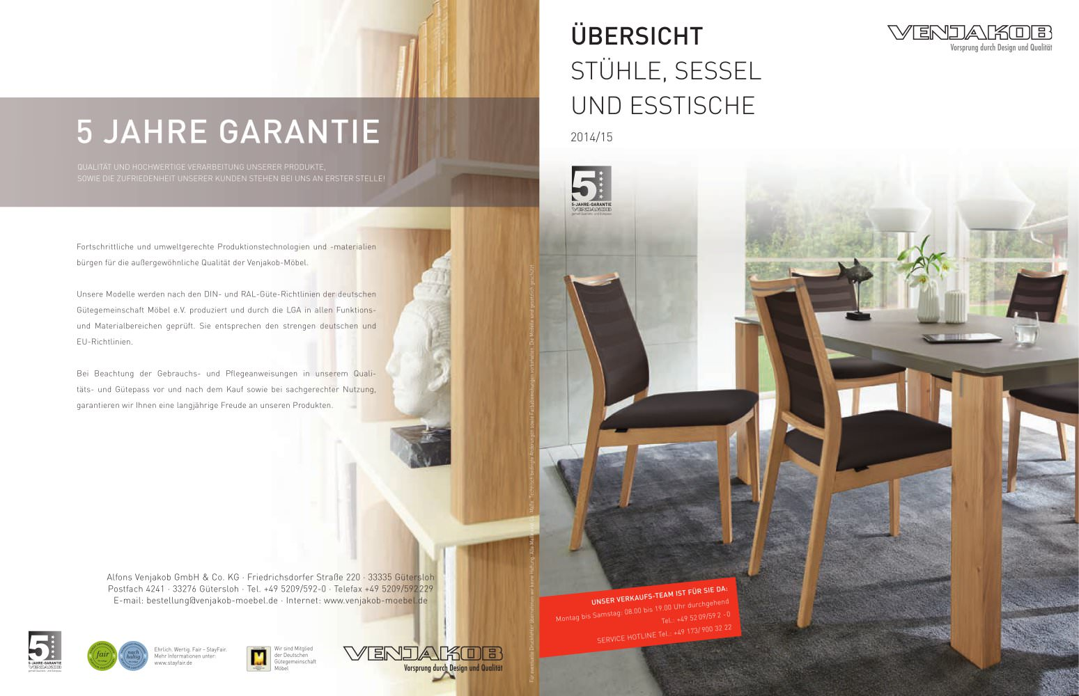 Venjakob Sentino Esszimmer Dining Table And Chair Alfons Venjakob Gmbh Co Kg Pdf