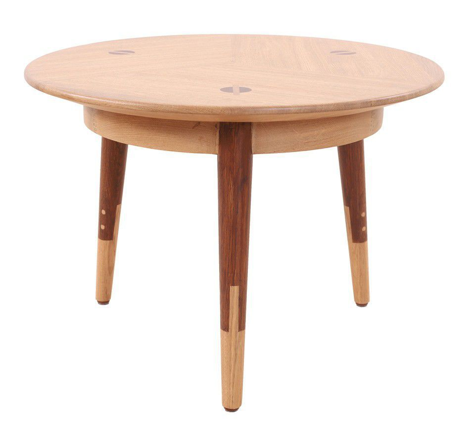 Table En Teck Ronde Table D Appoint Contemporaine En Teck Ronde Professionnelle