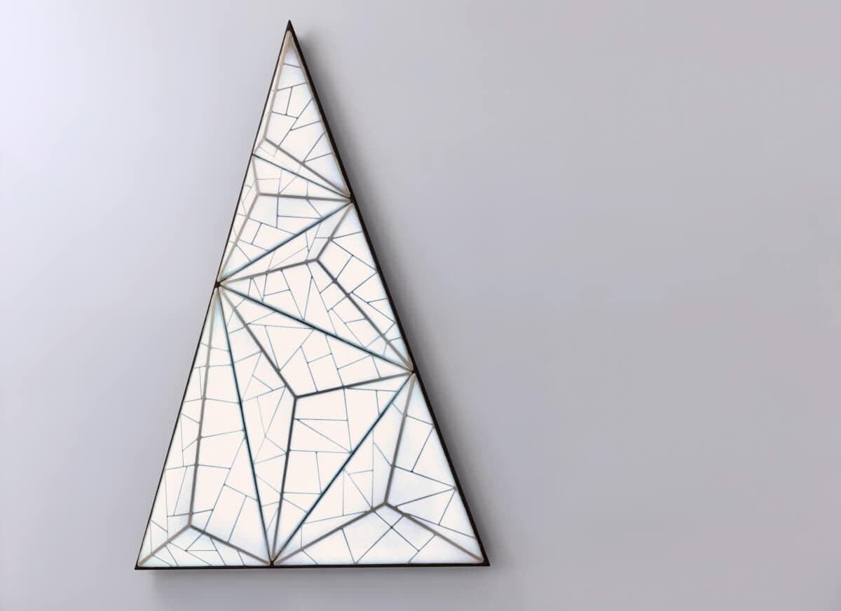 Appli Mural Applique Murale Contemporaine En Soie Led Rgb Triangulaire