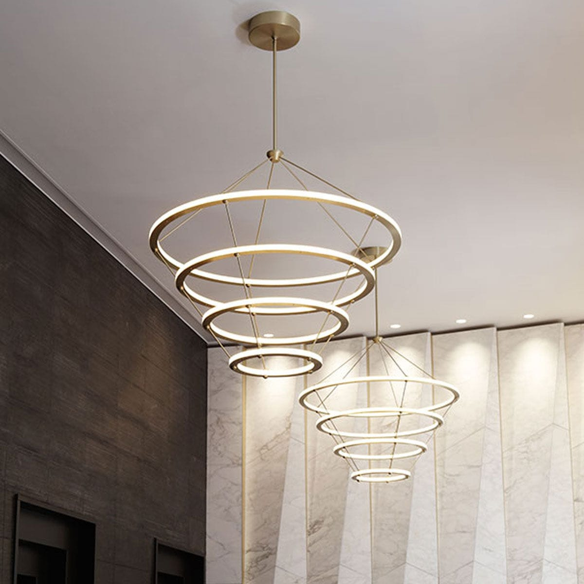 Lustre Contemporain Design Lustre Design Contemporain Led Muntuit
