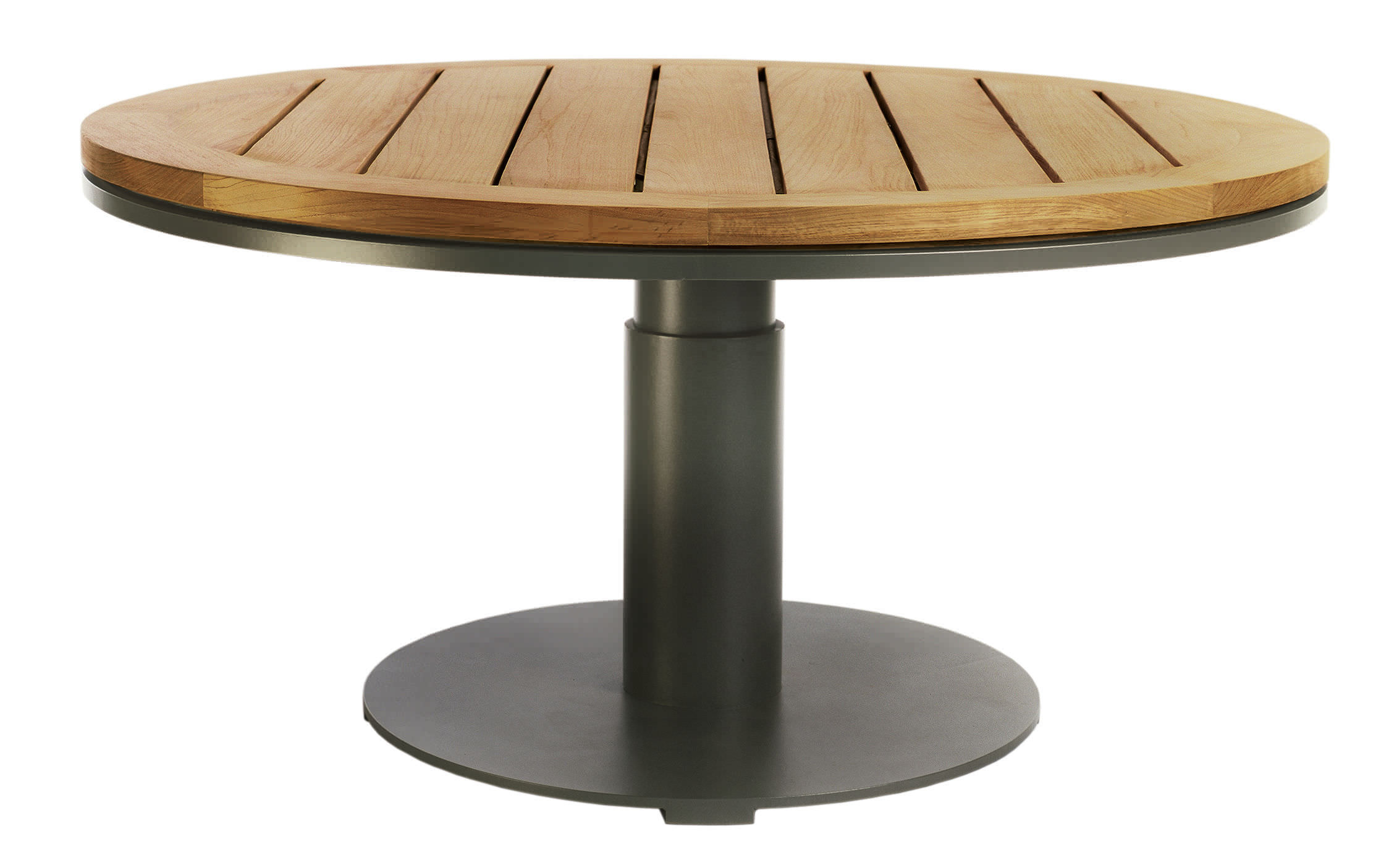 Table En Teck Ronde Table Contemporaine En Teck Ronde De Jardin Peninsula By