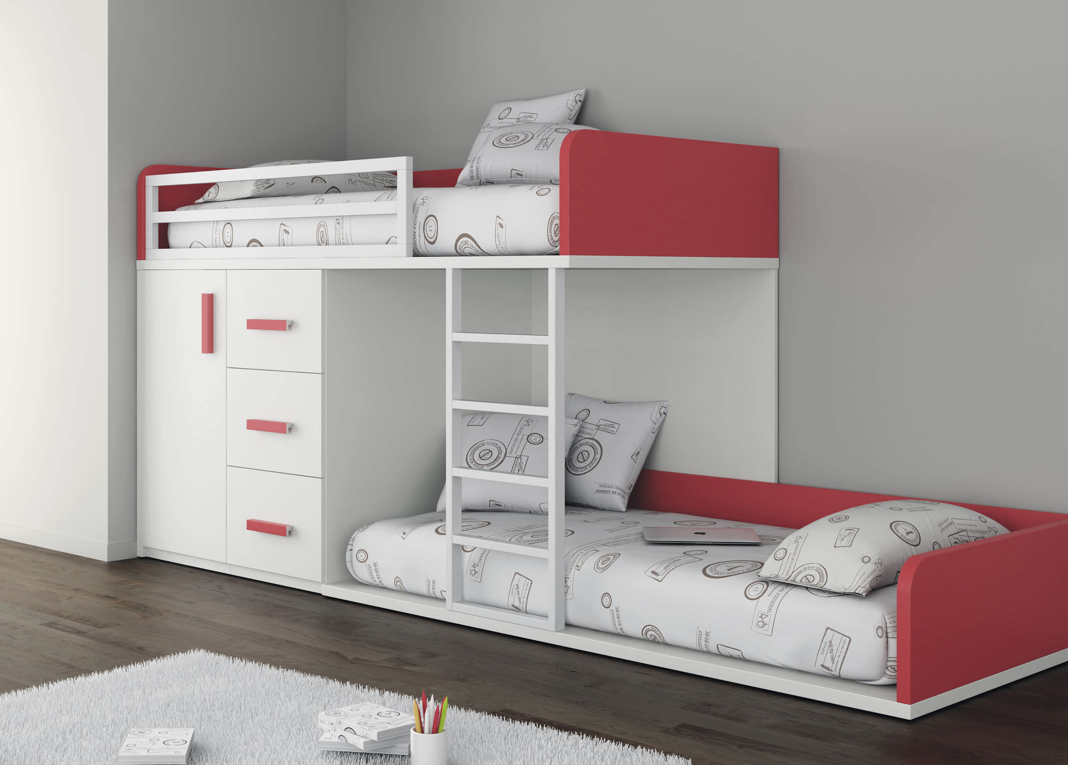 Lits Superposés Pour Adultes Lit Superposé Simple Contemporain Pour Enfant Touch 51 Ros 1 S A