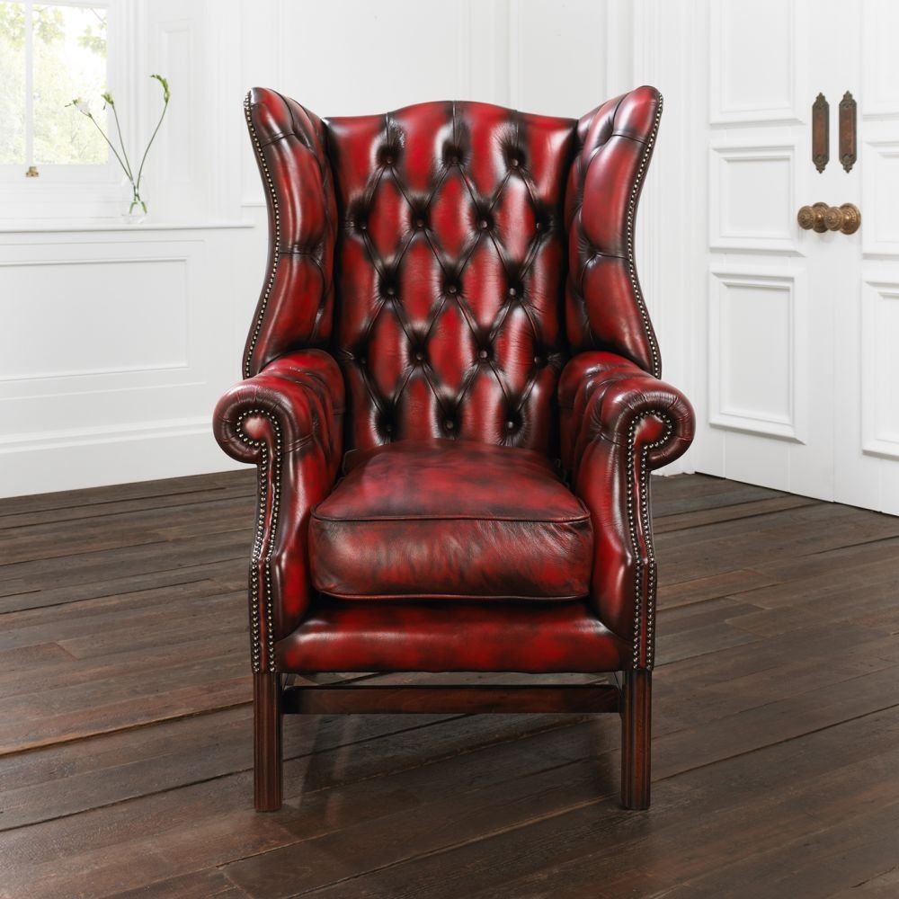 Fauteuils Chesterfield Rouge Fauteuil De Style Chesterfield En Cuir Paxton Distinctive