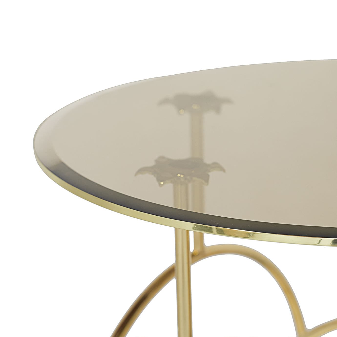 Table Appoint Verre Table D Appoint Design Original En Laiton Poli En Verre Ronde