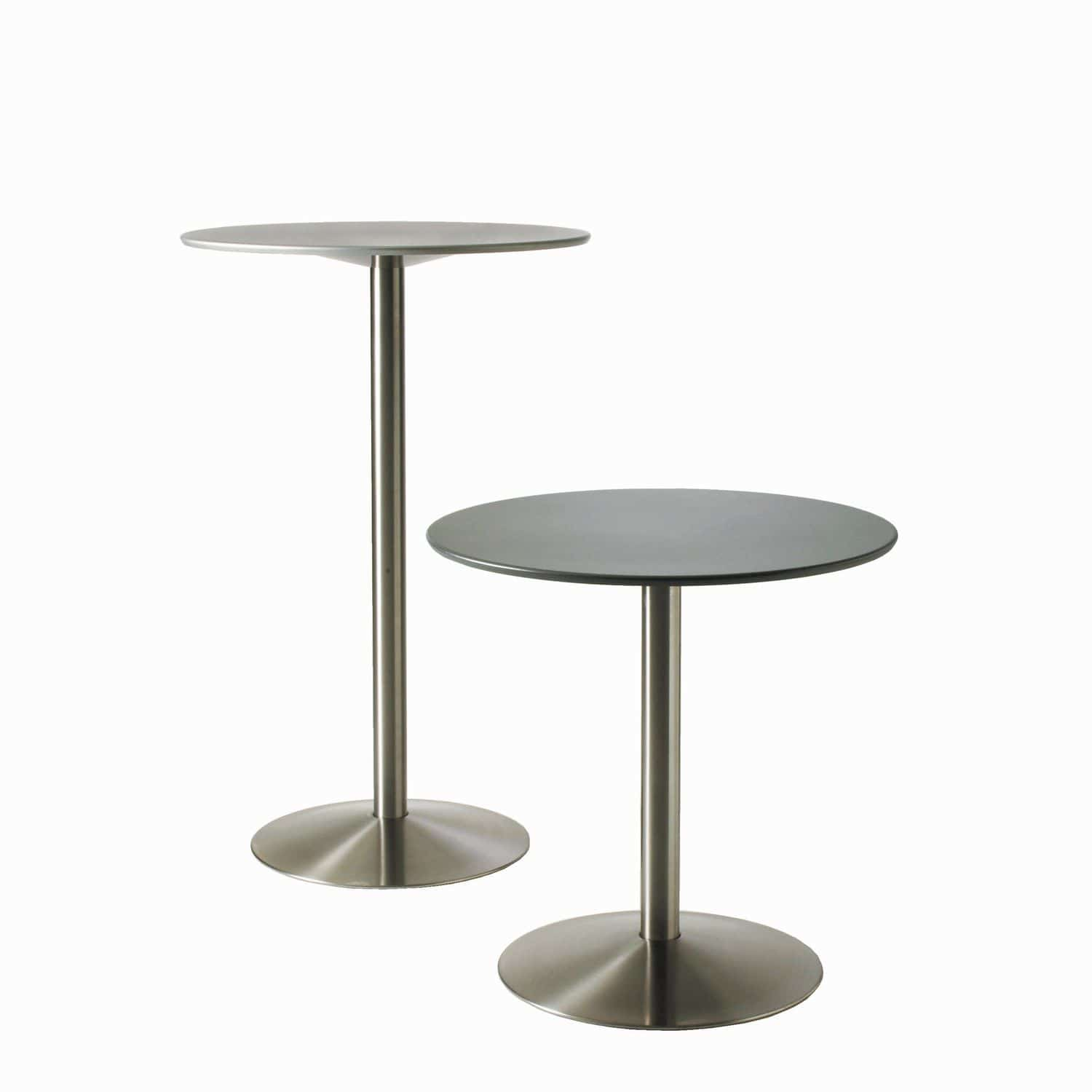 Table Bistrot Inox Table Bistrot Contemporaine En Aluminium Ronde D Extérieur