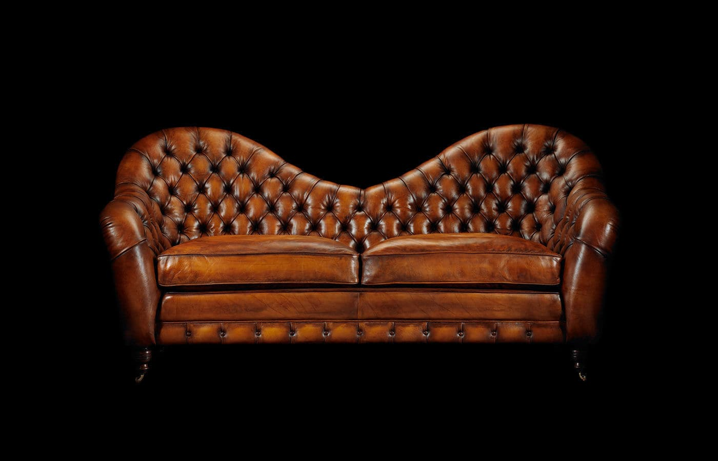 Canapé Chesterfield 2 Places Canapé Chesterfield En Cuir 2 Places à Roulettes Francis