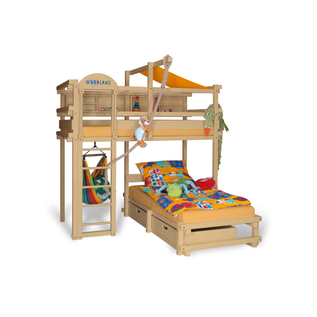 Lits Superposés Woodland Lit Superposé D Angle Simple Contemporain Pour Enfant