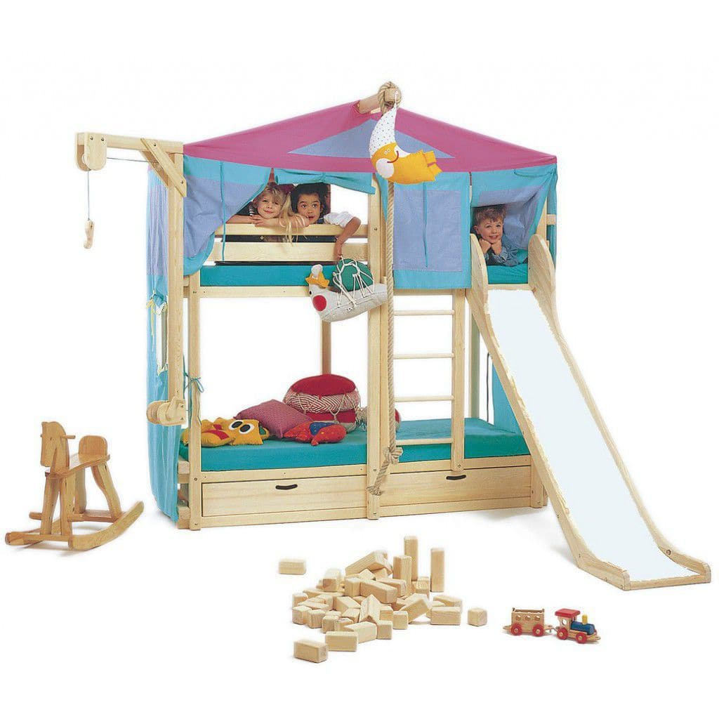 Lits Superposés Woodland Lit Superposé Simple Contemporain Pour Enfant Unisexe