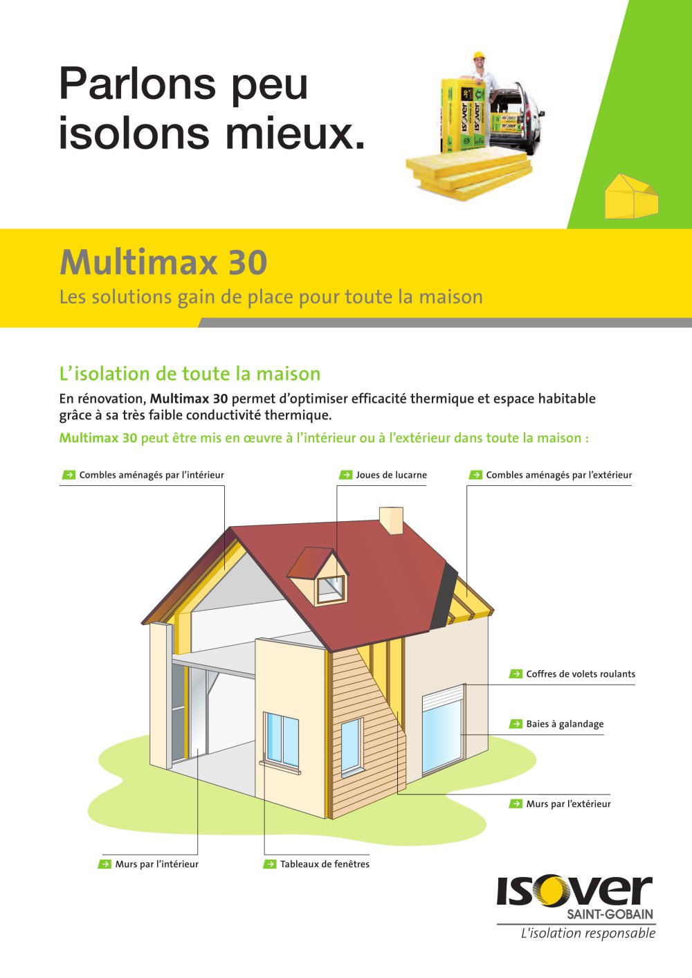 Isolation Exterieure Joue De Lucarne Multimax 30 Isover Saint Gobain Catalogue Pdf Documentation