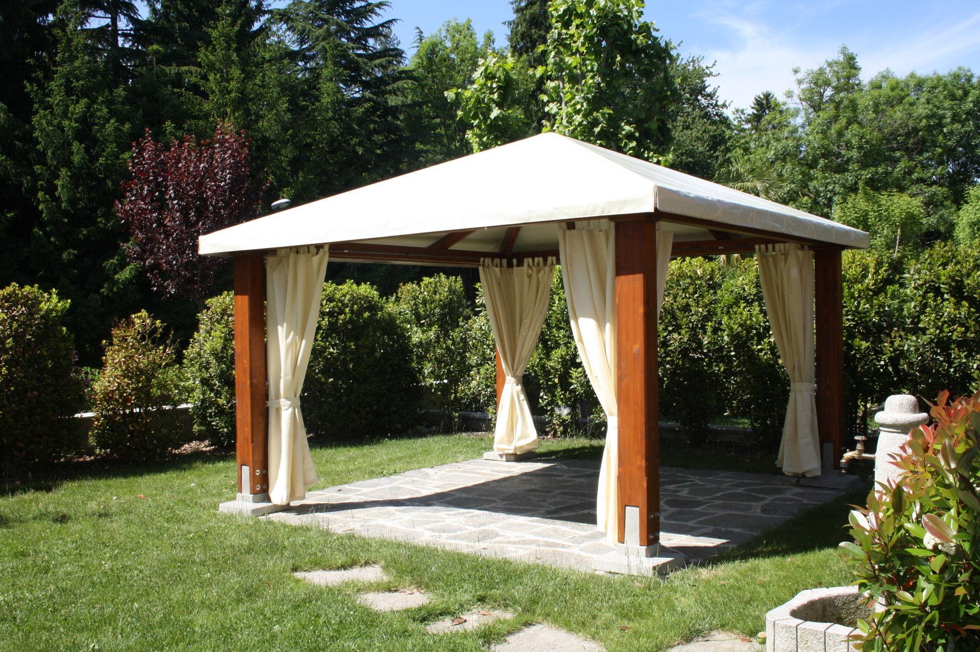 Gazebo in legno per giardino illuminazione per gazebo fresh