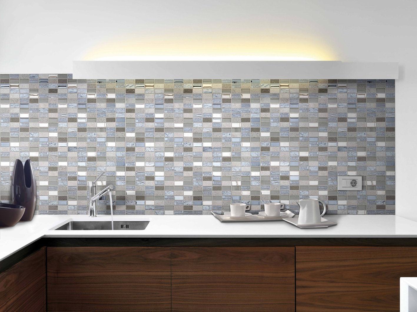 Piastrelle Mosaico Cucina | Eccezionale Mosaico Per Bagno ...