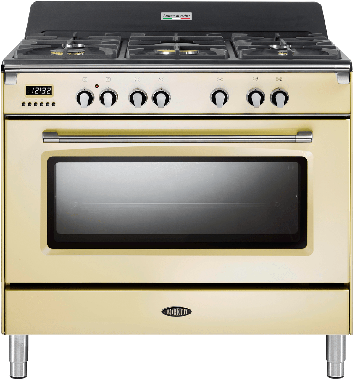 Boretti Gasfornuis 90 Cm Boretti Cfbg901owbe Fornuis 90cm 1 Oven Oud Wit Gas Be Art Craft