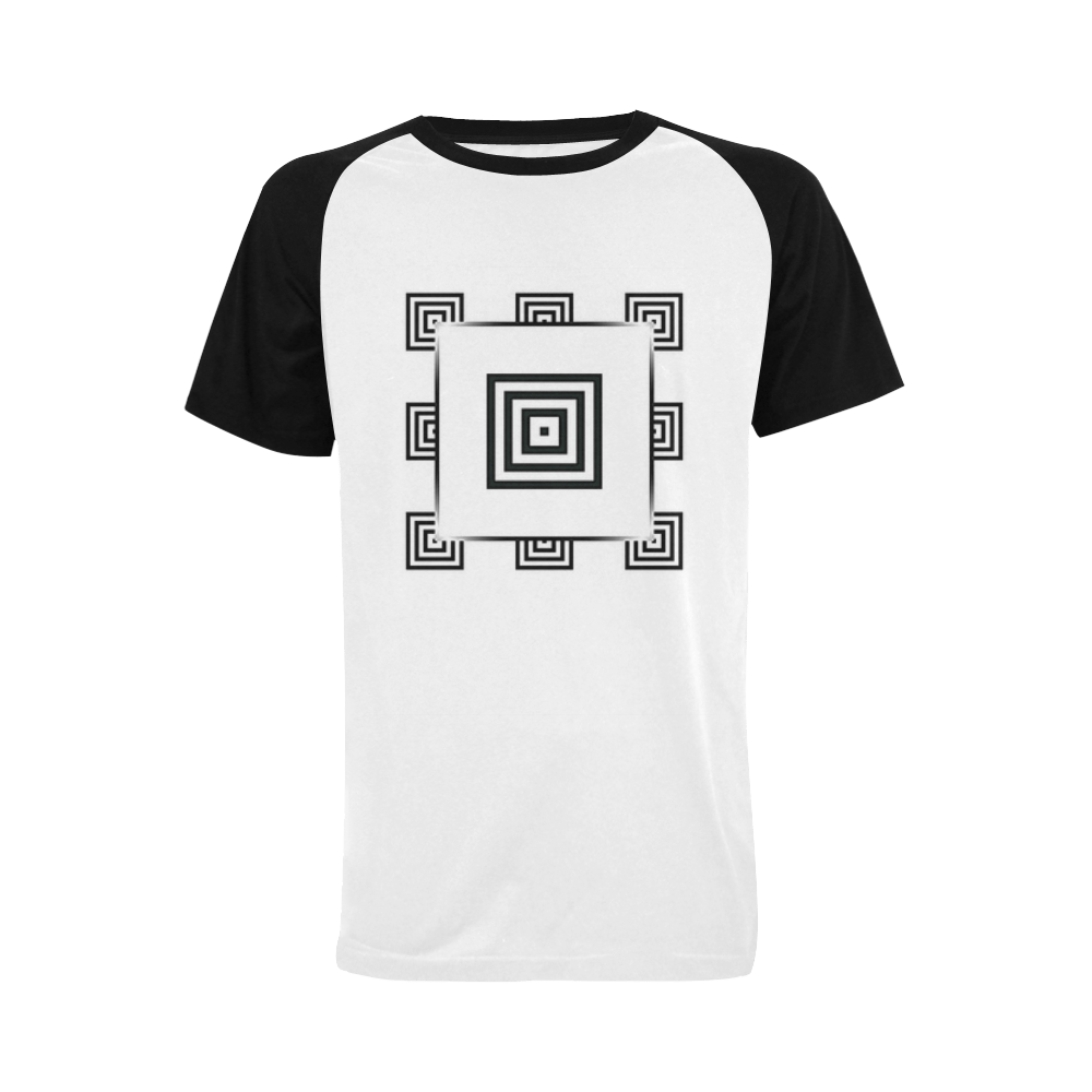T Shirt Frame Solid Squares Frame Mosaic Black White Men S Raglan T Shirt Big Size Usa Size Model T11 Id D381185