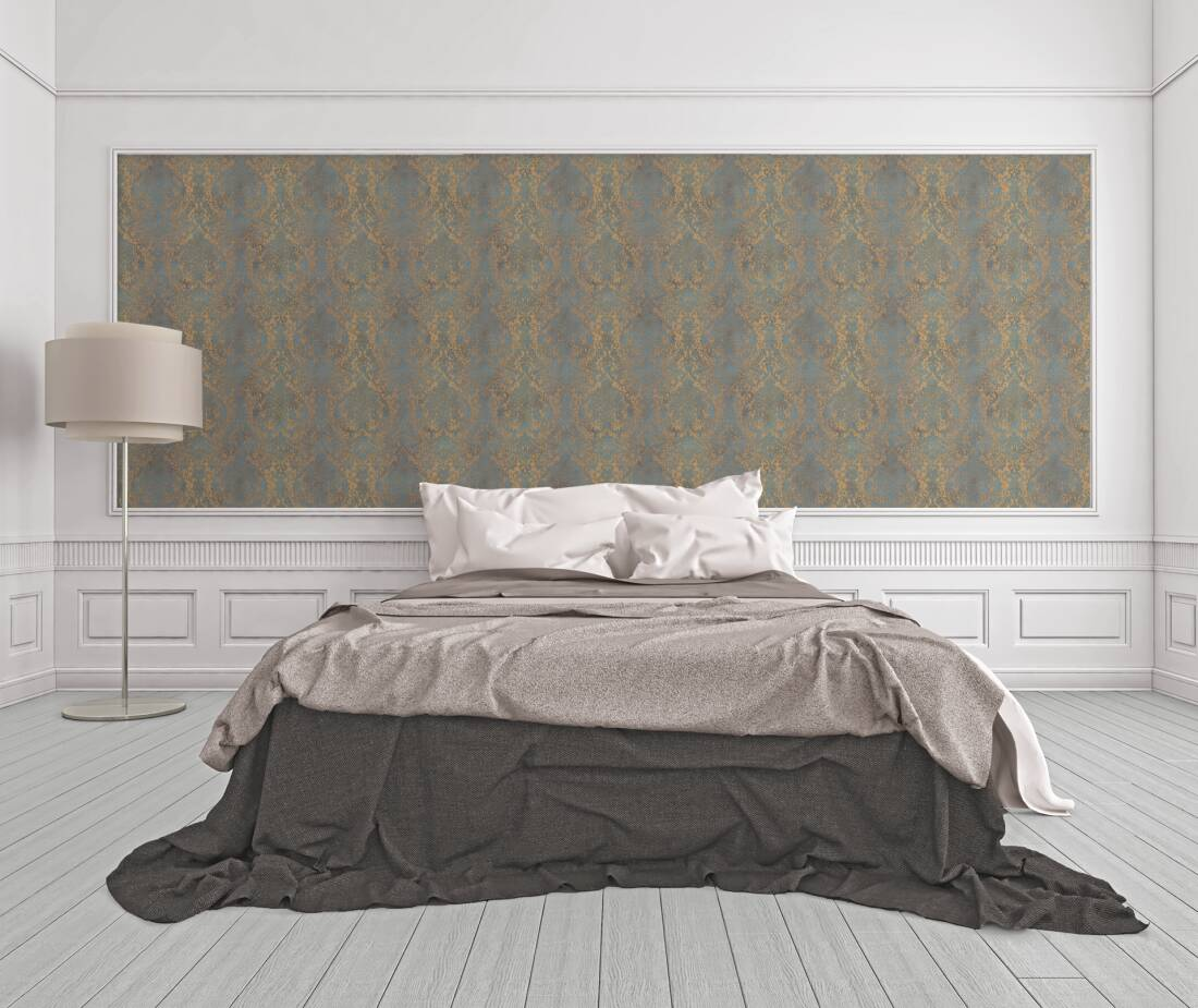 Originals Tapete Barock Beige Blau Gold Metallics 959102