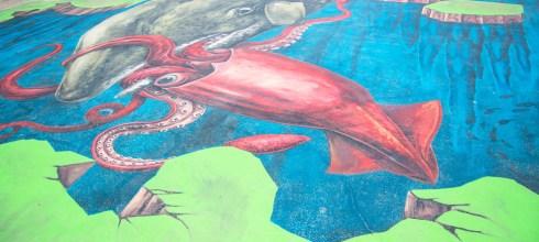|嘉義‧布袋|好美里社區,全台最大3D地景彩繪,3D立體海洋彩繪村