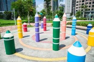|高雄景點|美術館附近隱藏著一座超可愛的鉛筆公園,秀拉兒童遊戲場