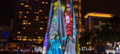 |新北‧板橋|2015年歡樂耶誕城Christmas land in New Taipei City,360度3D光雕藝術秀,幸福開城。