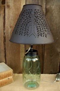 "Primitive Country Punched Tin 10"" Clip-On Lamp Shade ..."