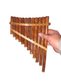 Large 29cm Hand Made Bamboo 12 Tube *PAN PIPES* Sounds Great!
