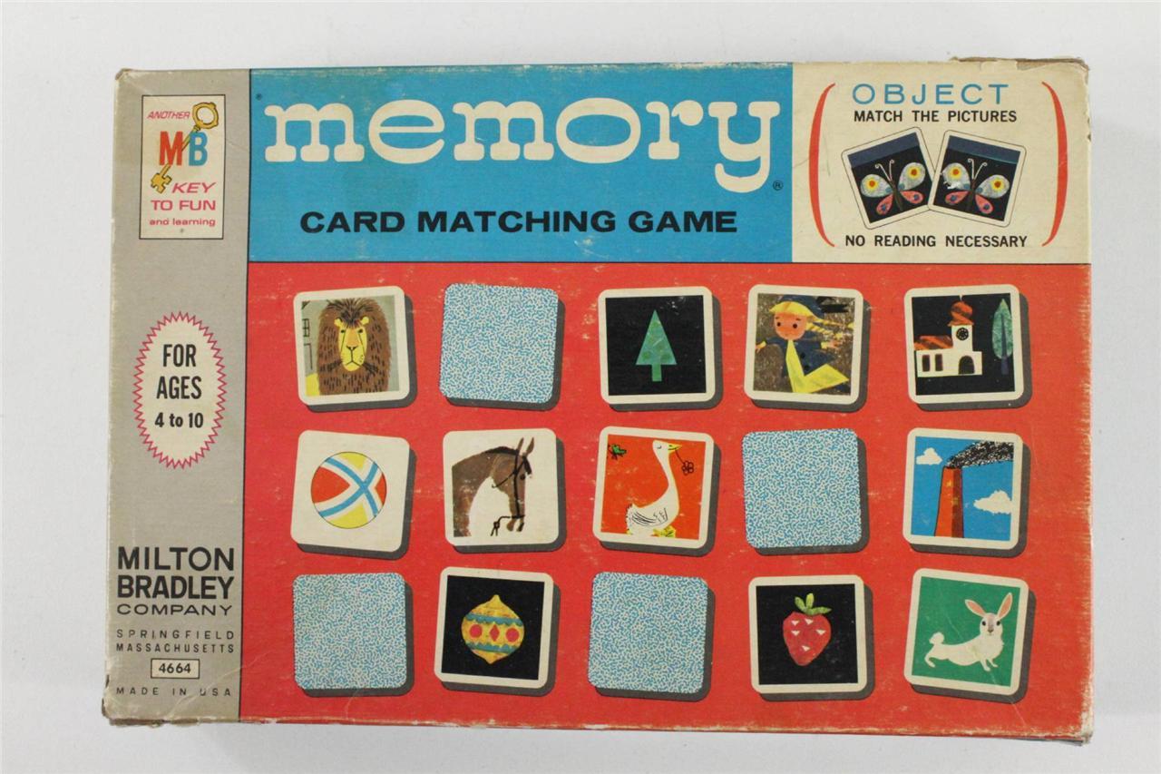 Best Vintage Milton Bradley Board Game Memory Card Matching No Memory Card Game Printable Memory Card Game Java cards Memory Card Game