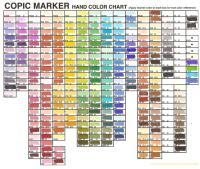 Copic Marker Colors | Car Interior Design