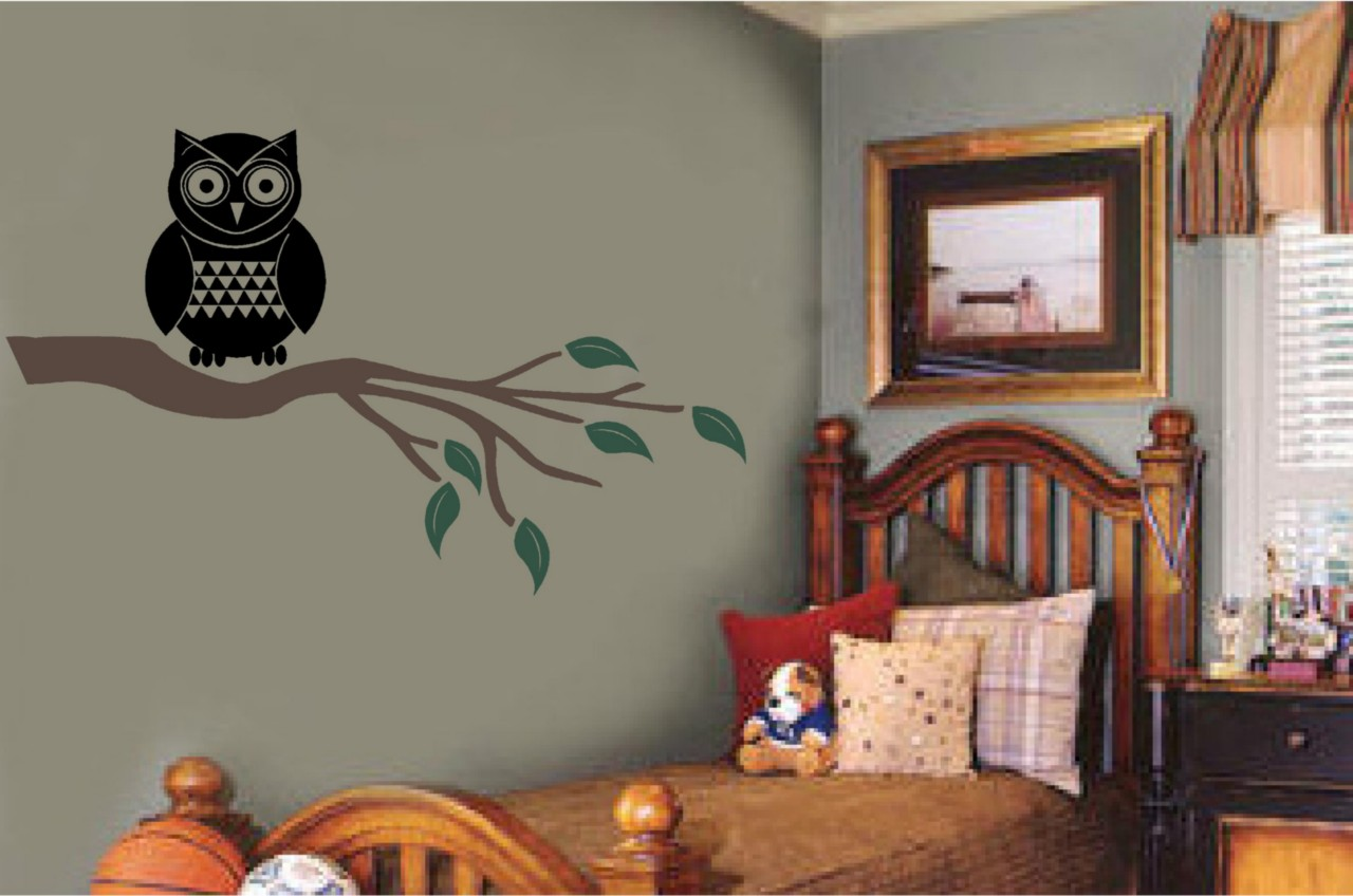 Owl Room Decor Owl Tree Branch Mural Vinyl Decal Wall Stickers Nursery