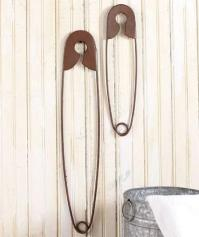 Set of 2 Giant Nostalgic Country Safety Pins Sewing ...