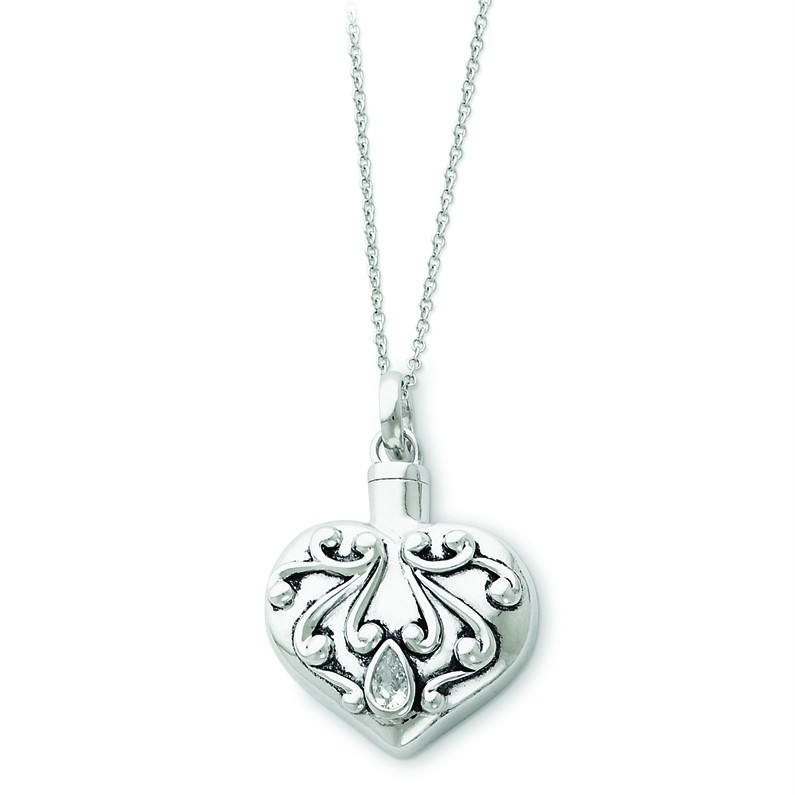 925 Sterling Silver Sentimental Expressionsr Heart Ash